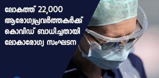 Over 22,000 healthcare workers infected by COVID-19: WHO