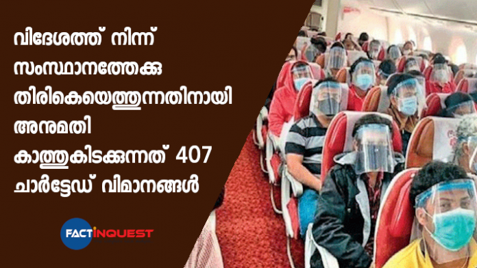 407 chartered flights await permission; 1.25 lakh people waiting to return
