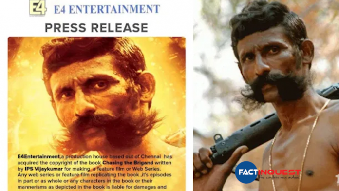 new web series with the story of veerappan