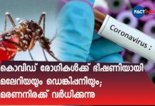 Dengue, malaria a new threat for Covid patients