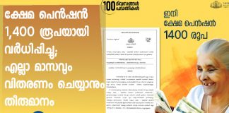 Kerala government increased welfare pension
