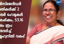 Kerala government announced 53.16 lakhs for building care homes for transgenders