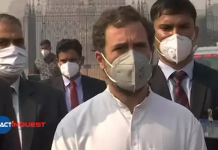 Rahul Gandhi against center