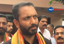 K Surendran on election day